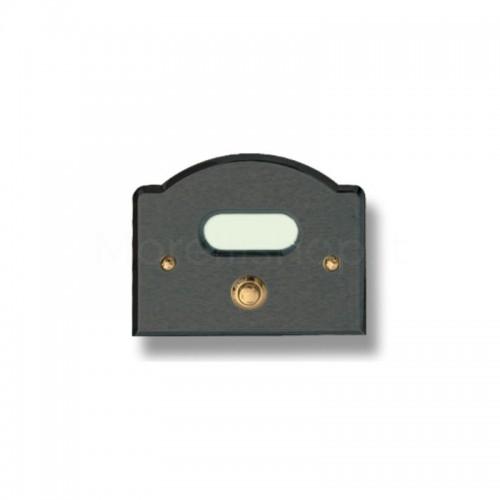Pulsante campanello Mod. CS1/A ottone antracite Alta Qualità Morelli