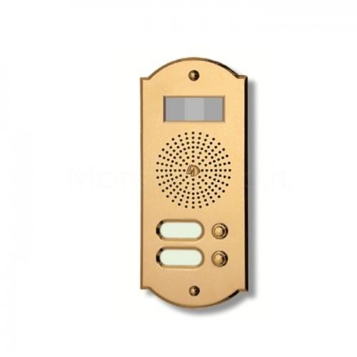 Videocitofono campanello 2 NOMI ottone Alta Qualità Morelli