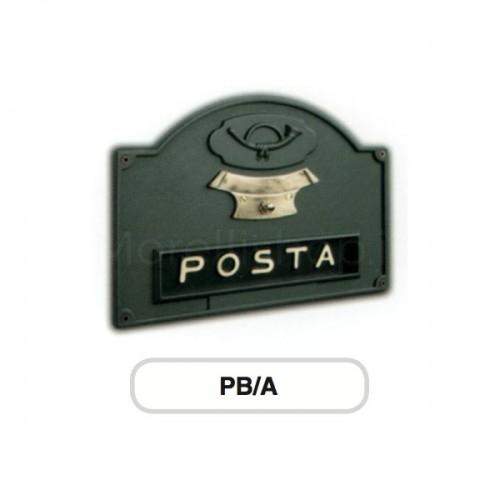 Asola antracite Mod. PB/A Morelli con Campanello per cassetta postale