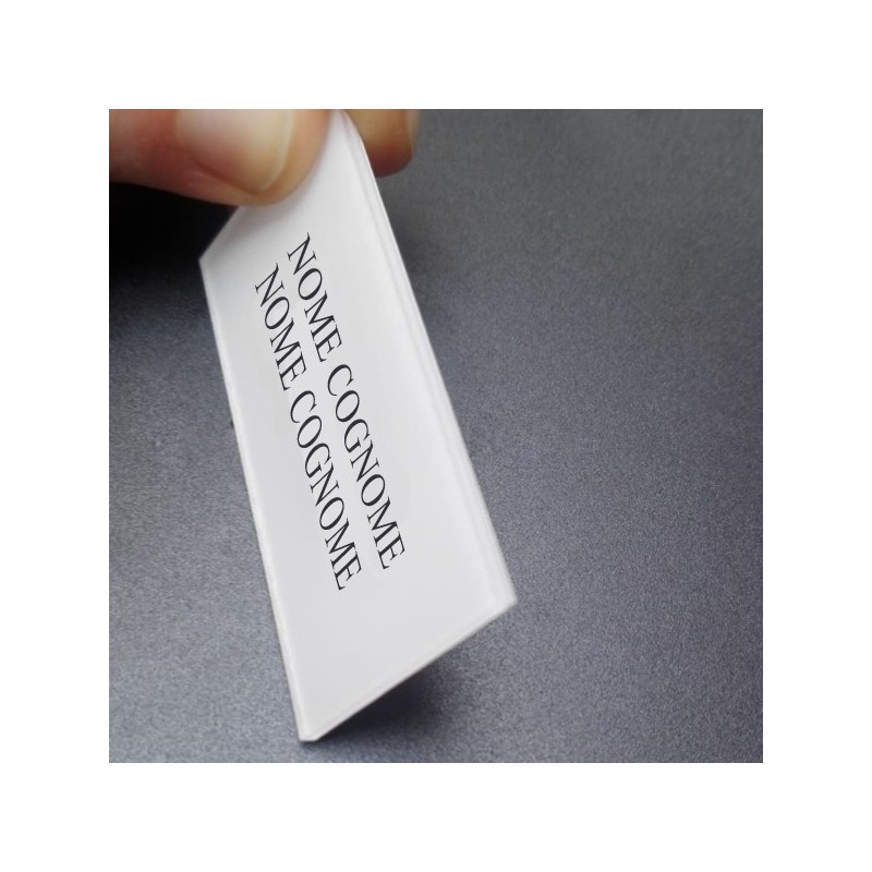 Servizio di incisione targhetta portanome Morelli