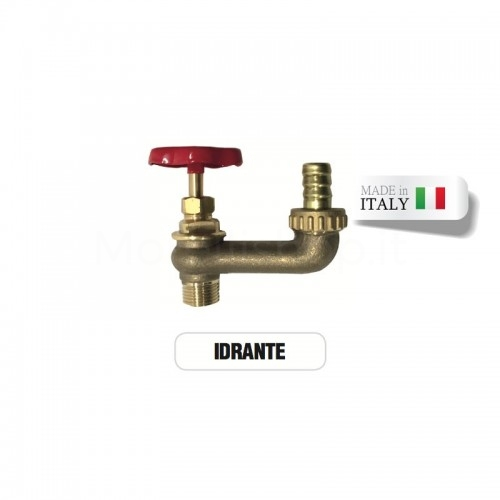 Rubinetto idrante in ottone con portagomma Morelli