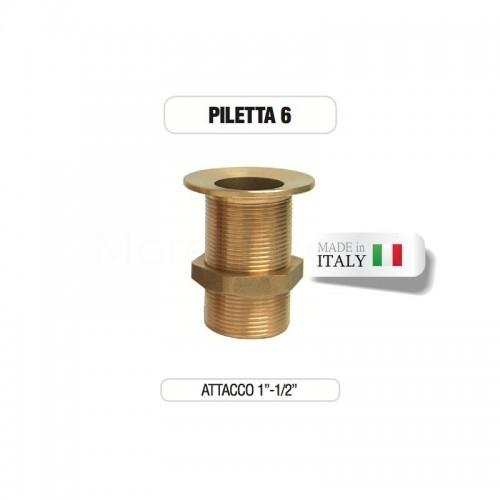 """Piletta in ottone 1""""e 1/2"""" senza tappo - Morelli"""