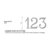 Numero Civico 12 cm ottone verniciato antracite - Morelli
