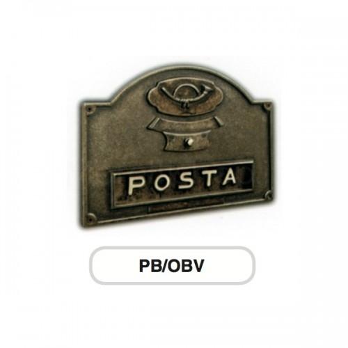 Asola ottone brunito Mod. PB/OBV Morelli con Campanello per cassetta postale