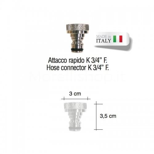"""Attacco rapido cromato 3/4"""" per rubinetto fontana Morelli"""
