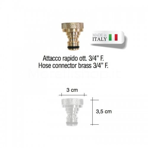 """Attacco rapido ottone 3/4"""" per rubinetto fontana Morelli"""