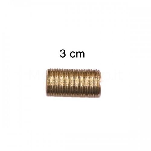 """Prolunga filettata in ottone misura 3/8""""M - 3 cm - Morelli"""