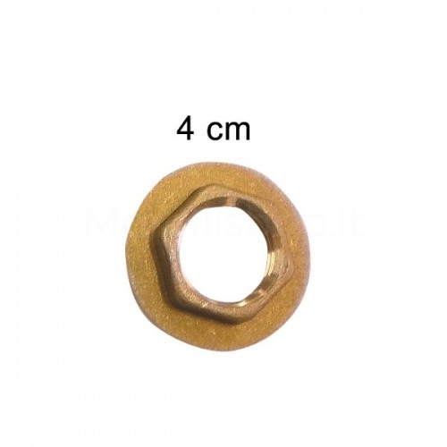 """Controdado in ottone con flangia diam. 4 cm 1/2""""F Morelli"""