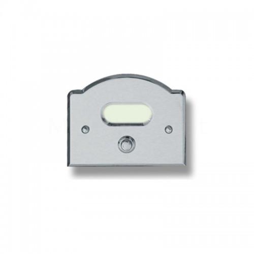 Pulsante campanello Mod. CS1/K cromo satinato Alta Qualità Morelli