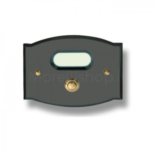 Pulsante campanello Mod. CS2/A ottone color antracite  Alta Qualità