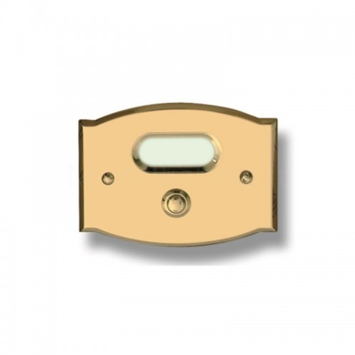 Pulsante campanello Mod. CS2/CPT ottone trattato Alta...