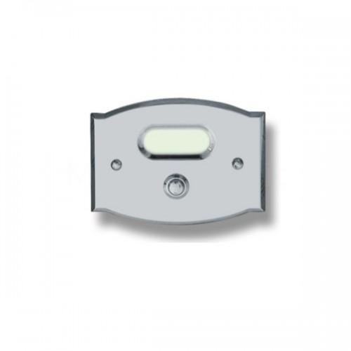 Pulsante campanello Mod. CS2/K cromo satinato Alta Qualità Morelli