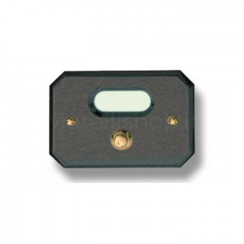 Pulsante campanello Mod. CS3/A ottone antracite Alta Qualità Morelli