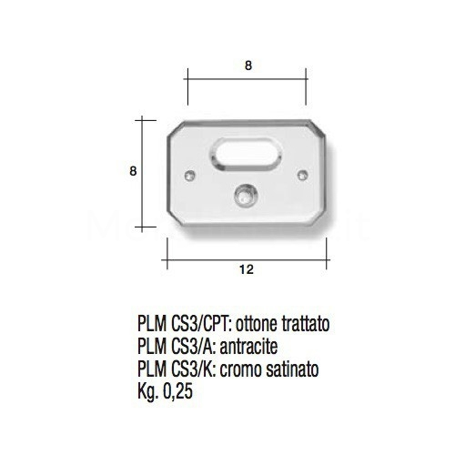 Pulsante campanello Mod. CS3/CPT ottone lucido Alta Qualità Morelli