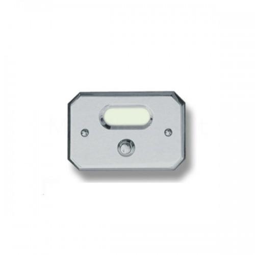 Pulsante campanello Mod. CS3/K cromo satinato Alta Qualità Morelli