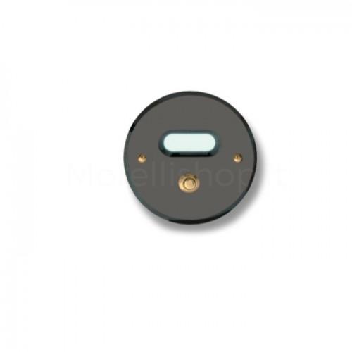 Pulsante campanello Mod. CS4/A ottone antracite Alta Qualità Morelli