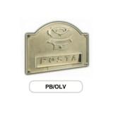 Asola ottone Mod. PB/OLV Morelli con Campanello per cassetta postale