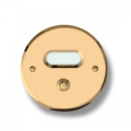 Pulsante campanello Mod. CS4/CPT ottone trattato Alta...
