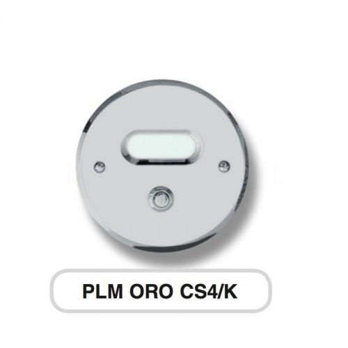 Pulsante campanello Mod. CS4/K cromo satinato Alta Qualità Morelli