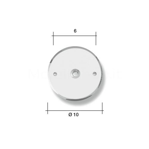 Pulsante campanello Mod. CS5/A ottone antracite  Alta Qualità Morelli