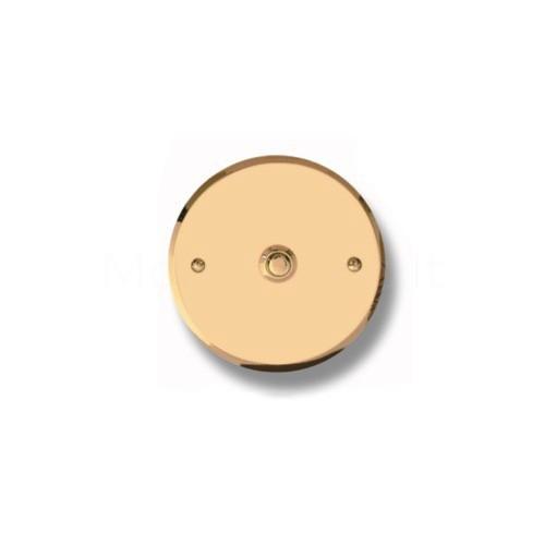 Pulsante campanello Mod. CS5/CPT ottone trattato Alta...