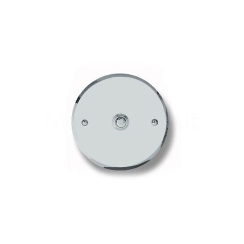 Pulsante campanello Mod. CS5/K cromo satinato Alta Qualità Morelli