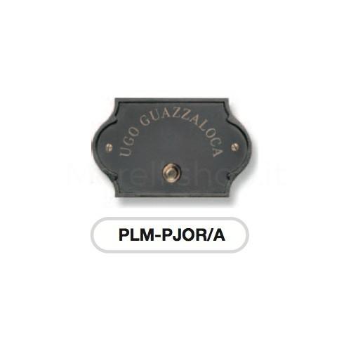 Pulsante campanello antracite base ottone con incisione Serie Perla Morelli