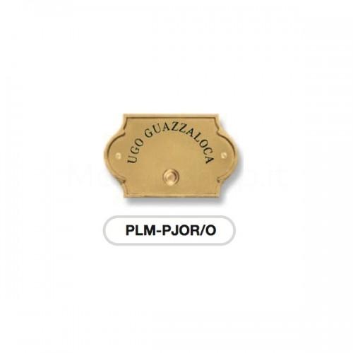 Pulsante campanello in ottone con incisione Serie Perla Morelli