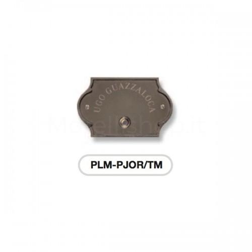Pulsante campanello testa di moro base ottone con incisione Serie Perla Morelli