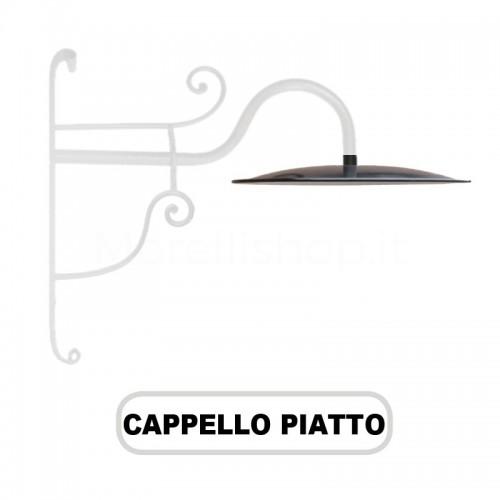 Cappello lume PIATTO per Lampione Morelli Serie Ferro Battuto