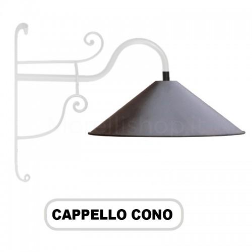 Cappello lume CONO per Lampione Morelli Serie Ferro Battuto