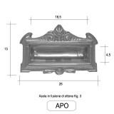 Asola introduzione posta in fusione di ottone - Morelli serie APO