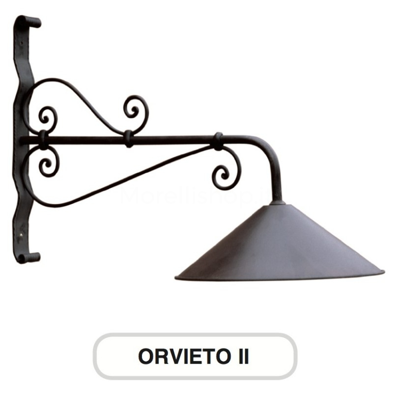 Lampione mod orvieto 2 ferro battuto morelli arredo for Arredo giardino ferro battuto