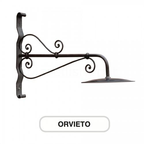 Lampione Mod. ORVIETO 1 ferro battuto Morelli - Arredo giardino