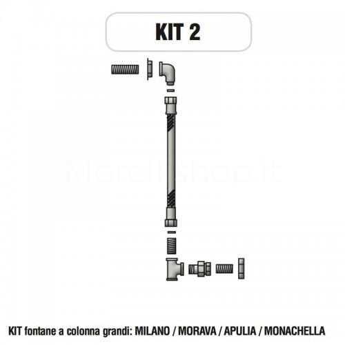 Kit raccorderia interna con Rubinetti per fontana a colonna Morelli - KIT2