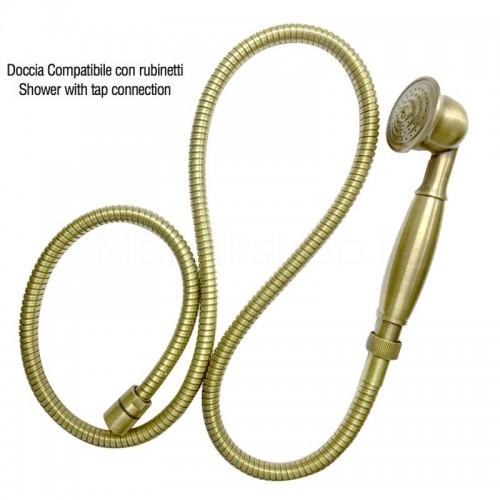 Doccia in ottone attacco compatibile con rubinetti Morelli
