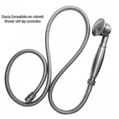 Doccia in ottone finitura cromata attacco compatibile con rubinetti Morelli