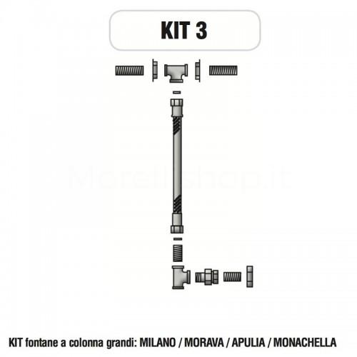 Kit raccorderia interna con Rubinetti per fontana a colonna Morelli - KIT3