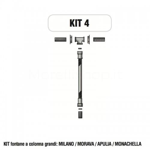 Kit raccorderia interna con Rubinetti per fontana a colonna Morelli - KIT4
