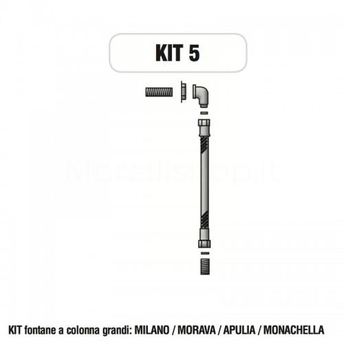 Kit raccorderia interna con Rubinetti per fontana a colonna Morelli - KIT5