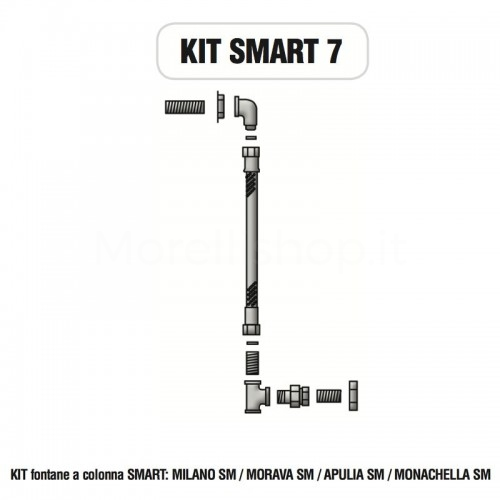 Kit raccorderia interna con Rubinetti per fontana a colonna SMART Morelli - KIT SMART 7