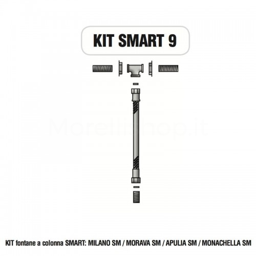 Kit raccorderia interna con Rubinetti per fontana a colonna SMART Morelli - KIT SMART 9