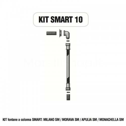 Kit raccorderia interna con Rubinetti per fontana a colonna SMART Morelli - KIT SMART 10