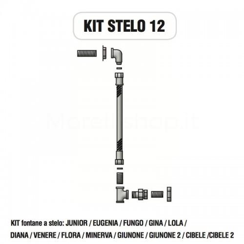 Kit raccorderia interna con Rubinetti per fontana a colonna STELO Morelli - KIT STELO 12