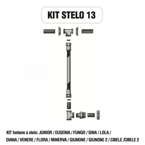 Kit raccorderia interna con Rubinetti per fontana a colonna STELO Morelli - KIT STELO 13