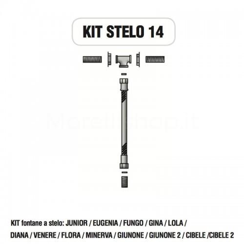 Kit raccorderia interna con Rubinetti per fontana a colonna STELO Morelli - KIT STELO 14