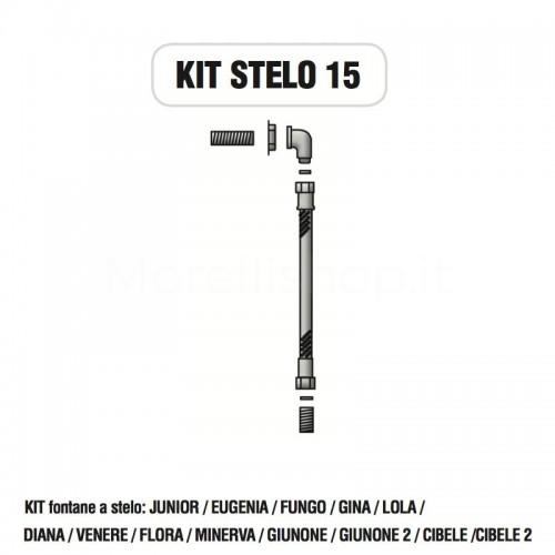 Kit raccorderia interna con Rubinetti per fontana a colonna STELO Morelli - KIT STELO 15