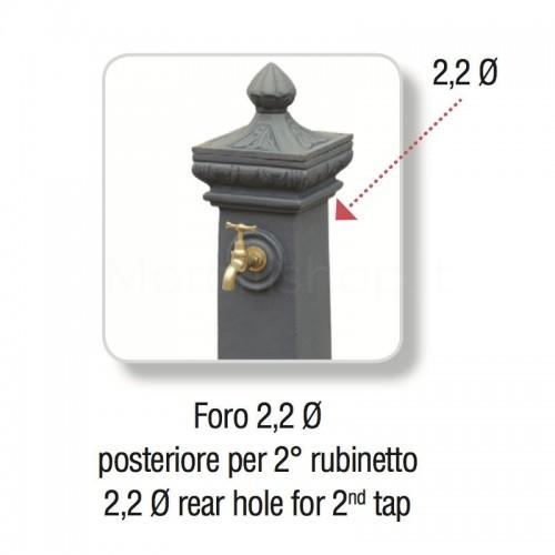 Foratura posteriore per aggiunta rubinetto