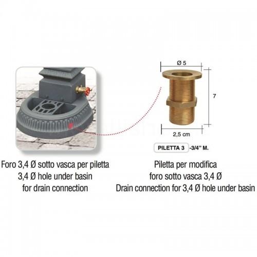 Foratura sotto vasca per predisposizione piletta - Milano Mini e Milano Smart