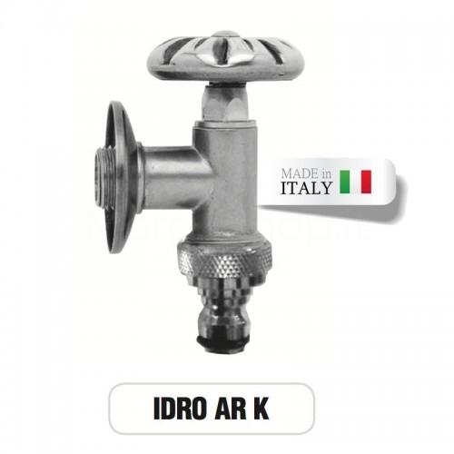 Rubinetto in ottone cromato IDRO con portagomma Morelli